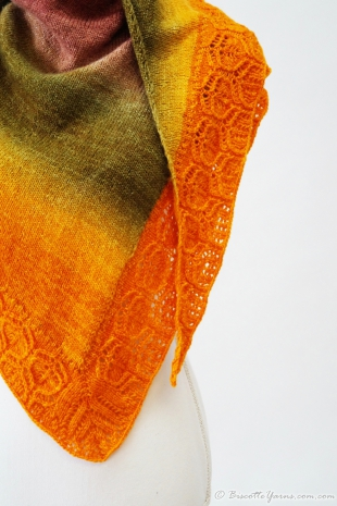 knitting design shawl